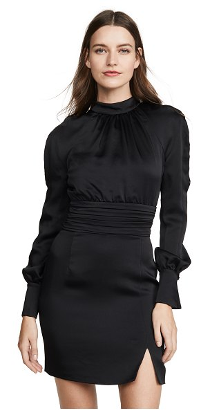 JONATHAN SIMKHAI crepe button sleeve dress in black