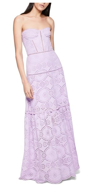 JONATHAN SIMKHAI juliette broderie anglaise bustier maxi dress in lilac