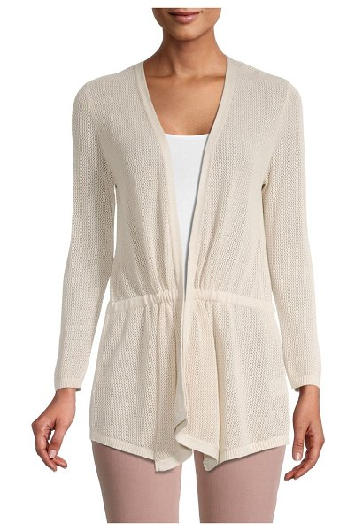 Joseph A Cinched Cotton-Blend Cardigan in cappuccino