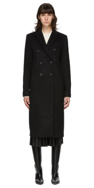 Joseph black cam wool coat in 0010 black