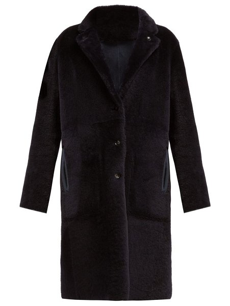 Joseph brittany reversible shearling coat in navy