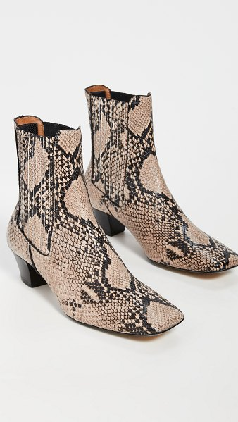 Joseph camelia booties in crusca