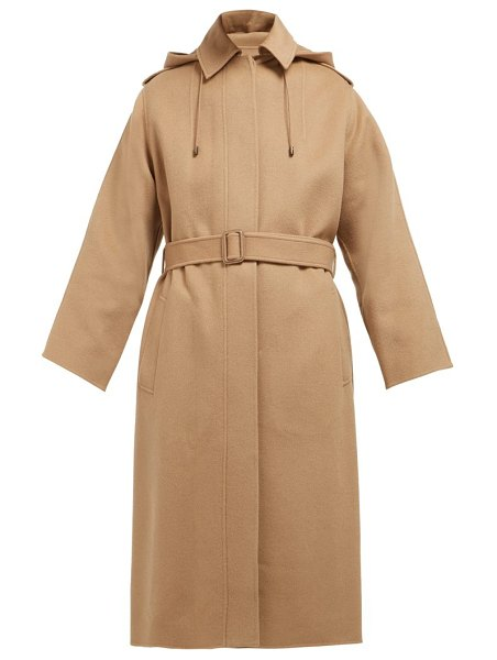 Joseph carbon feather single breasted wool blend coat in camel
