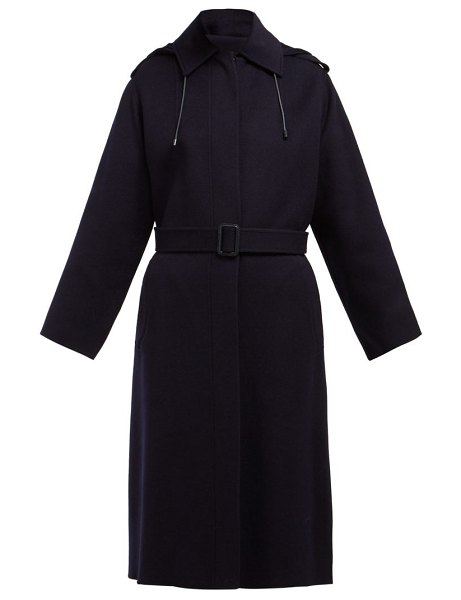 Joseph Carbon Feather Single Breasted Wool Blend Coat in navy - Joseph - Joseph's navy Carbon Feather coat exemplifies...