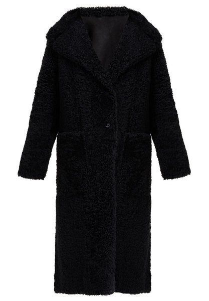 Joseph maybelle reversible shearling coat in black
