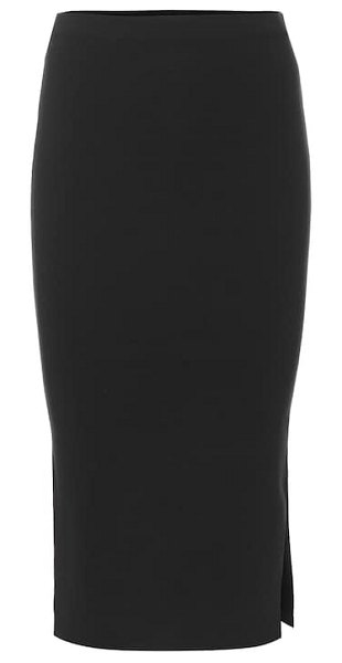 Joseph silk-blend knit pencil skirt in black - Fall back on Joseph's purist point of view for the new...