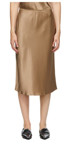 Joseph taupe isaak silk skirt in 0102 taupe