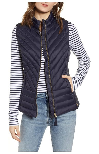 Joules brindley quilted vest in marine navy