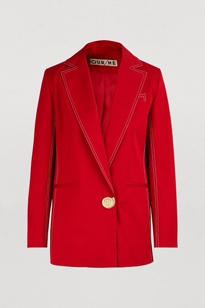 Jour Ne Jacket with golden button in red