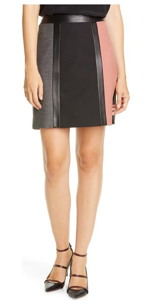 Judith & Charles bianca a-line skirt in rosewood