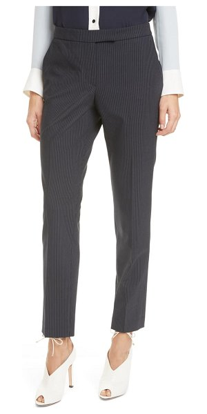 Judith & Charles clive pinstripe trousers in navy