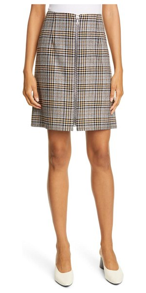 Judith & Charles modica check plaid skirt in grey/ gold