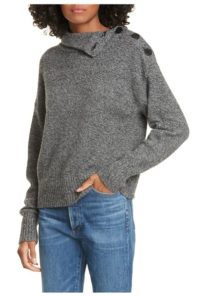 Judith & Charles olivo wool & cashmere sweater in charcoal