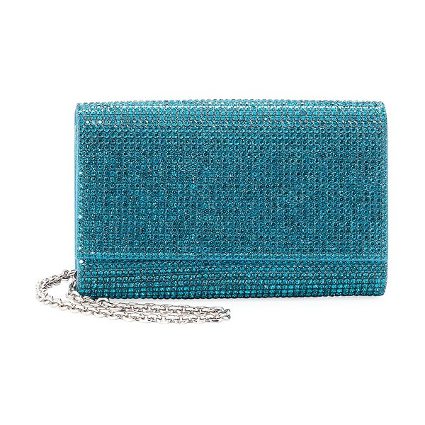 Judith Leiber Couture Crystal-Embellished Shoulder Bag in teal