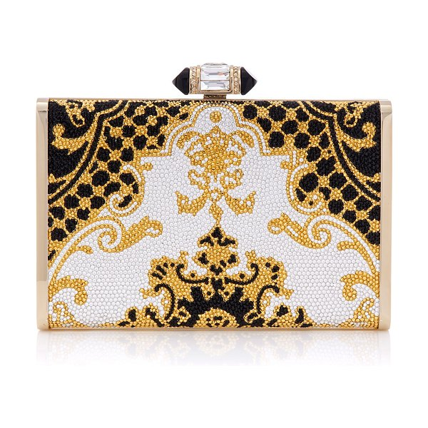 Judith Leiber Couture Patterned Tall Slender Rectangle Clutch Bag in multi