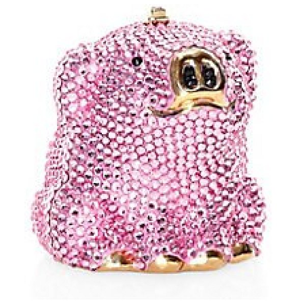 Judith Leiber Couture wilbur crystal pig chain clutch in pink - We've captured the wonderment of a children's classic...