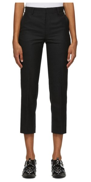 Junya Watanabe black wool crop trousers in 1 black