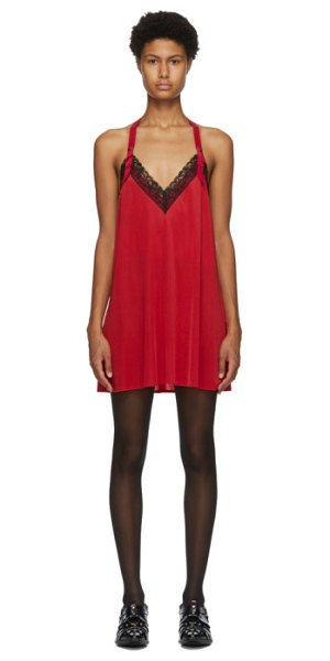 Junya Watanabe red lace slip dress in 1 red