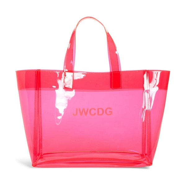 Junya Watanabe small transparent tote in pink - Perfect for stashing everything from beach towels to...