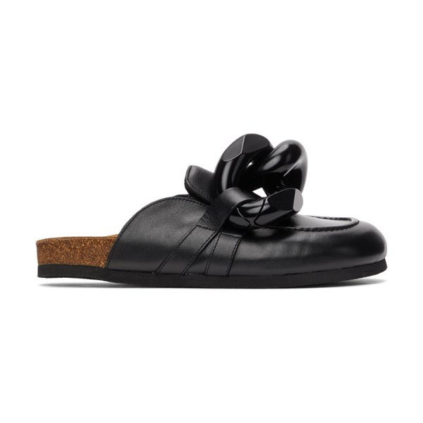 J.W.ANDERSON chain loafers in black