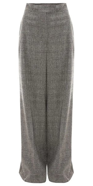 J.W.ANDERSON High waist checked wool wide leg pants in grey