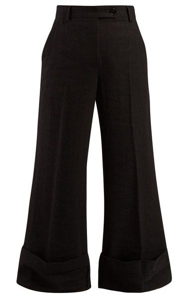 J.W.ANDERSON sailor crepe trousers in black