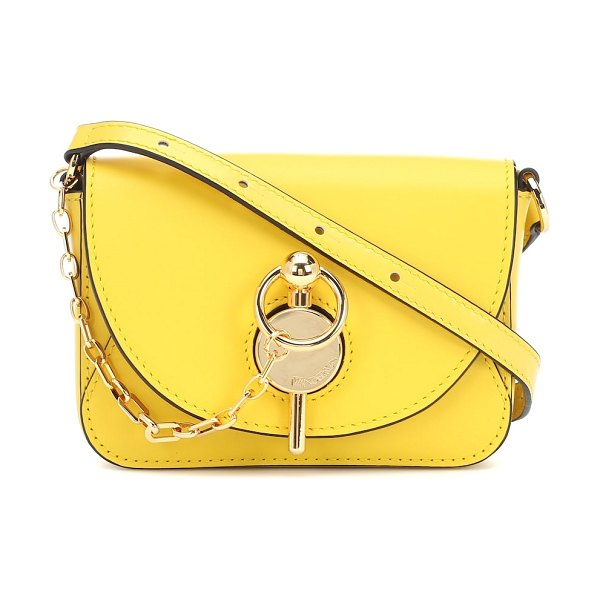 J.W.ANDERSON keyts nano leather shoulder bag in yellow
