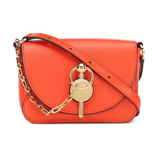 J.W.ANDERSON keyts nano leather shoulder bag in orange
