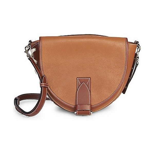 J.W.ANDERSON leather saddle bag in tan,black