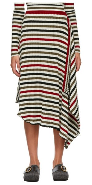 J.W.ANDERSON multicolor striped rib infinity skirt in 570 militar