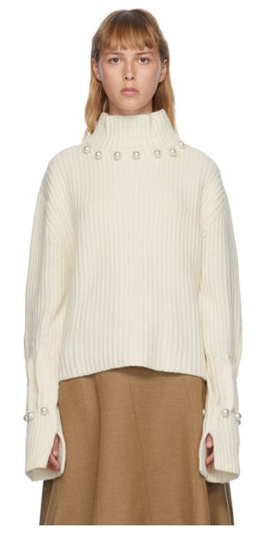 J.W.ANDERSON off-white pearl turtleneck in 002 white