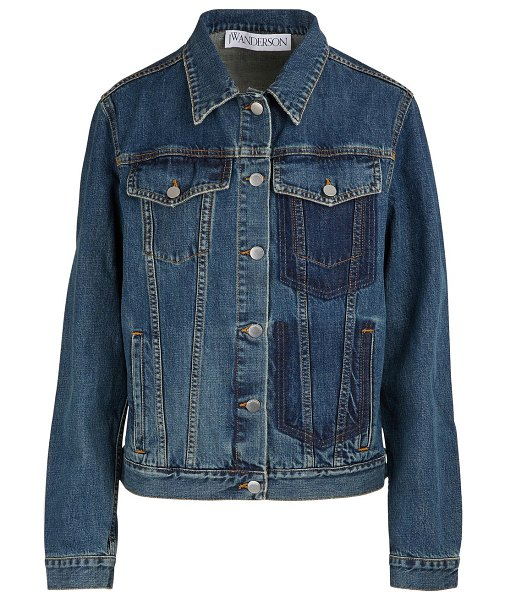 J.W.ANDERSON Shaded pockets denim jacket in color - With this denim jacket with dark pockets, JW Anderson...