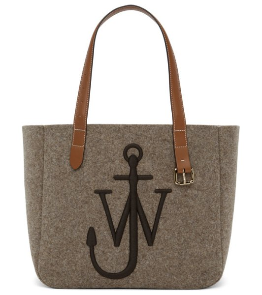 J.W.ANDERSON taupe anchor tote in 190 taupe