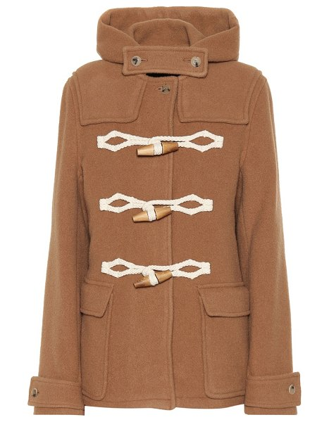 J.W.ANDERSON wool duffel coat in beige