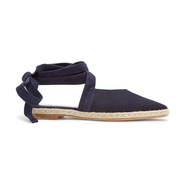 1e31277c187f J.W.ANDERSON Jw Anderson - Wraparound Leather Backless Espadrilles in navy  - JW Anderson - British