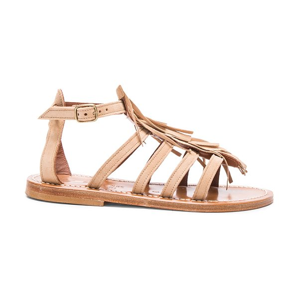 K. Jacques Suede Fregate Sandals in neutrals - K Jacques footwear started with humble beginnings in...