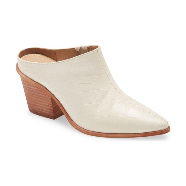 KAANAS brunello mule in off white