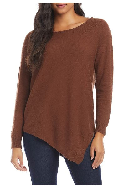 Karen Kane asymmetrical sweater in brown