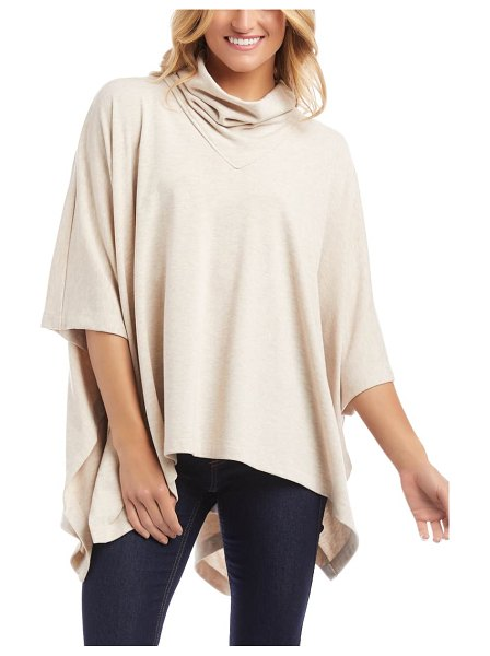 Karen Kane turtleneck poncho in oat