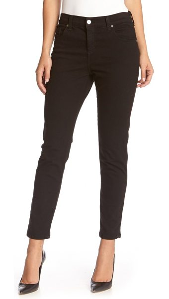 Karen Kane 'zuma' stretch crop skinny jeans in black