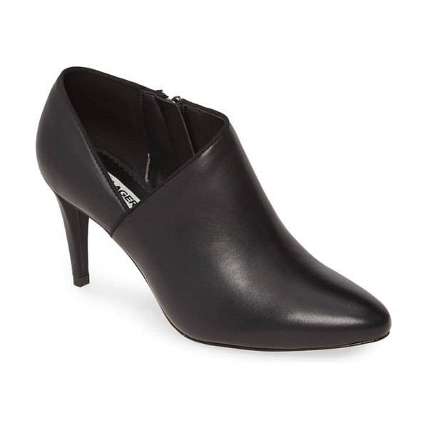 Karl Lagerfeld Paris mishka ankle boot in black nappa leather