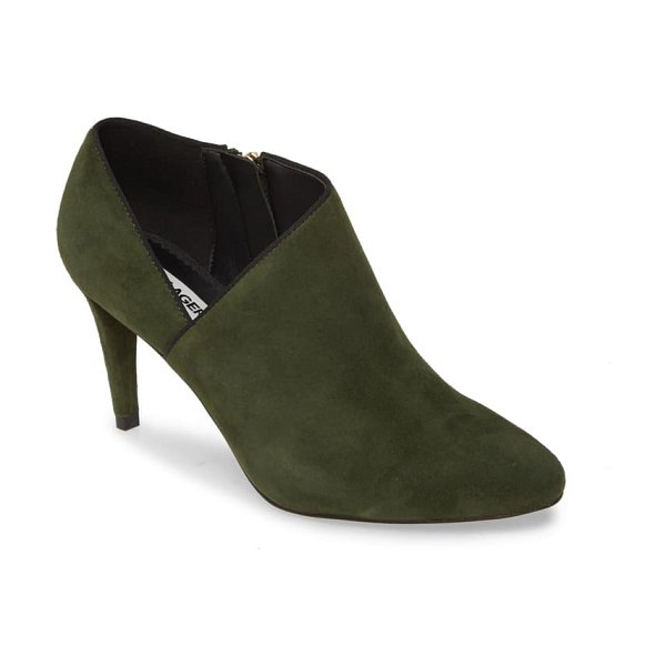 Karl Lagerfeld Paris mishka ankle boot in olive suede