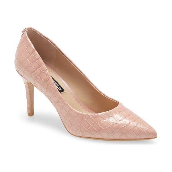 Karl Lagerfeld Paris royale pump in blush leather