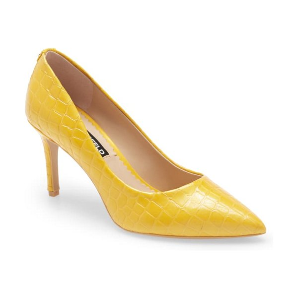 Karl Lagerfeld Paris royale pump in yellow/ yellow leather