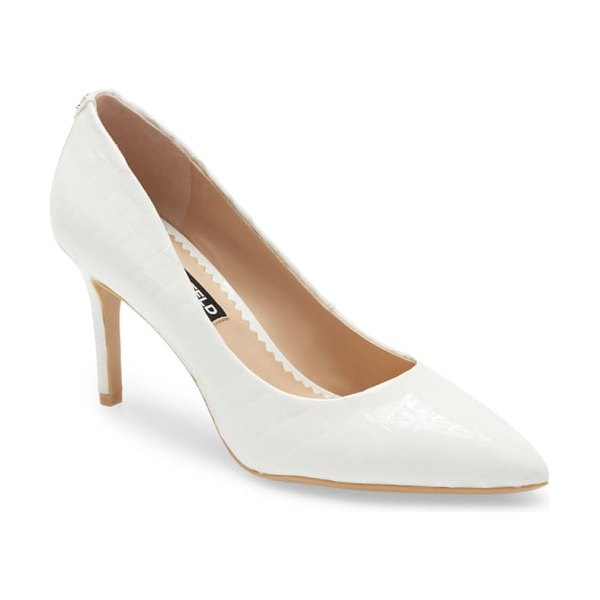 Karl Lagerfeld Paris royale pump in white leather