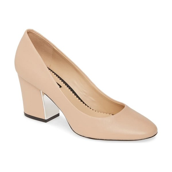 Karl Lagerfeld Paris sabrina pump in nude nappa leather