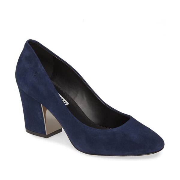 Karl Lagerfeld Paris sabrina pump in navy suede