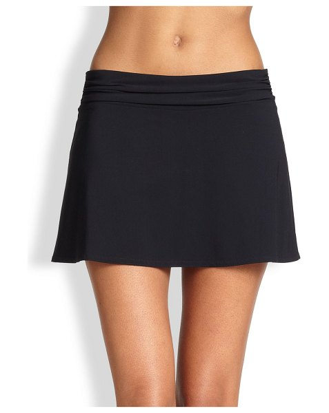 Karla Colletto ruched waistband skirt in black