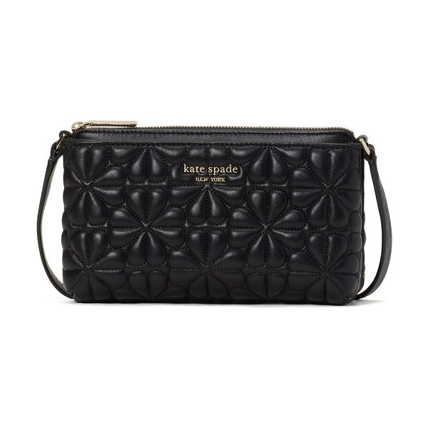 Kate Spade New York bloom east west quilted leather crossbody in black at nordstrom in black
