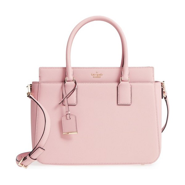 Kate Spade New York cameron street in warm vellum - A structured satchel in scratch-resistant, crosshatched...